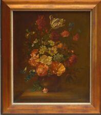 Jan Emil Tuche Original Ölgemälde Leinw. Stilleben Blumen Polen Warschau 74x64cm