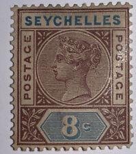 Travelstamps:  SEYCHELLES STAMPS SG#11, Mint, Og, Hinged, 8c