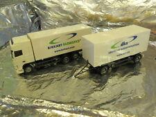** Herpa 149600 DAF XF SSC Interchangeable Box Trailer Birkart 1:87 H0 Scale