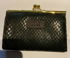 OSPREY PURSE BLACK LEATHER WITH GOLD CLASP
