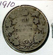 Weeda Canada 1910 silver 50c half dollar