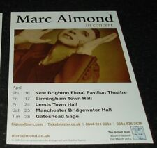 MARC ALMOND (UK Concert Tour Flyer) Year ?