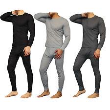 New Mens 2PC Soft 100% Cotton Thermal Underwear Long Johns Set Top, Bottom M-2XL