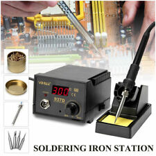 YiHua 937D ESD Soldering Station Solder Iron W/ Extra 5 Tips Stand Kit 230V 45W