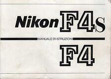 Nikon F4/F4s Manuale istruzioni in italiano su cd