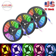 50FT 900LED Strip Lights 3528 SMD RGB Fairy String with Remote Xmas Party TV 15m