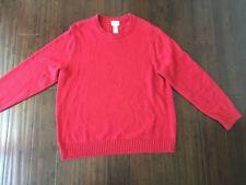 LL Bean 100% Cotton Crewneck Men's Sweater Red XL
