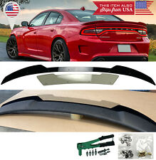 2 Pcs Black Decklid Spoiler Flap Wicker bill Fit 15-20 Dodge Charger SRT Hellcat