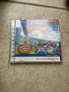Reader Rabbits Preschool PC CD learn read letters numbers alphabet game! Age 3-5