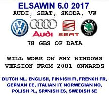 ELSAWIN6.0 2017 Workshop Service Repair Manual FOR VW SKODA AUDI SEAT VEHICLES