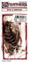 "Feathers Barred Chinchilla Poultry Hackle  3-4"" L"