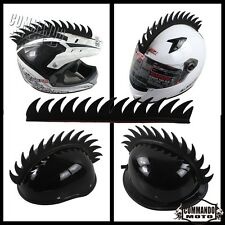 Motorcycle Helmet Warhawk Spikes Mohawks Rubber Spike Strip Universal Fit Black