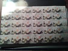 THEME FLEUR  rose DESTOCKAGE 30 timbres