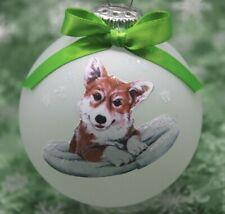 D523 Hand-made Christmas Ornament dog - Pembroke Welsh Corgi cute laying pillow
