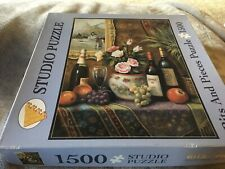 """Bits & Pieces 1500 Piece Jigsaw Puzzle """"A Vintage Year"""" Wine Roses"""