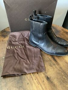 Mens Gucci Leather Ankle Boots  9.5uk