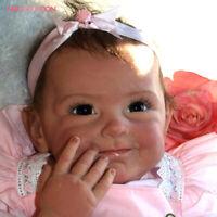 "New 22"" Reborn Baby Girls Realistic Lifelike Newborn Toddler Adorable Girl Toys"