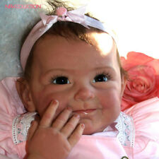 "Lifelike Reborn Baby Girl Dolls Silicone Vinyl Newborn Toy Doll 22"" Real Kids"