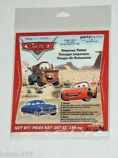 ~CARS~2-SHEETS  MULTICOLOR TEMPORARY TATTOOS   PARTY SUPPLIES