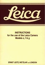 Leica c f g Instruction Manual Free Ship