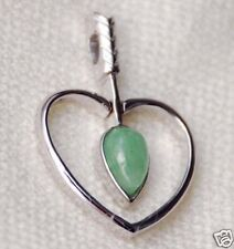 Heart - jade in sterling silver pendant 011