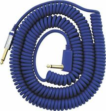 Vox 9m / 27ft Vintage Retro Coil / Coily Guitar Cable / Lead (Blue) - New!
