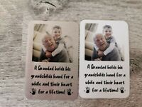 Personalised Metal Wallet Card Gift For grandad grandfather family gift for him