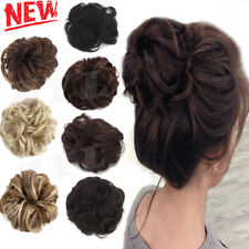 Hair Chignon Messy Curly Extensions Ponytail Updo Women Synthetic Wavy Bun Piece