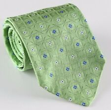 """NWT VERSACE silk TIEfloral green white blue made in Italy 3.54"""""""