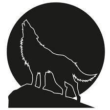 Wolfsgeheule Wandtattoo Wolf Vollmond Berge Wandaufkleber Deko Wohnzimmer Tiere