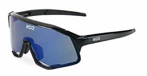 KOO Demos-Cycling Sports Sunglasses Zeiss Lens Black Frame Blue Lens