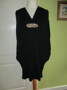BNWT M&S AUTOGRAPH SIZE 18 WOMENS BLACK TULIP DRESS JERSEY STRETCH WAS £35