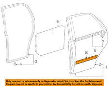 TOYOTA OEM 98-02 Corolla REAR DOOR-Body Side Molding Left 7574202050