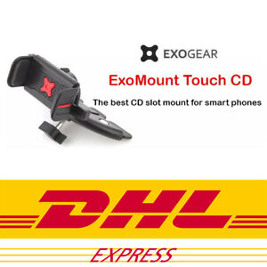 ExoMount Touch CD Slot Car Mount Holder by Exogear iPhone X 8 7 6 6S Plus ETC
