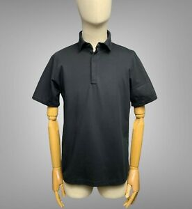 RAPHA Black Men's Polo Shirt Size L Large Short Sleeve Cycling Bike Lifestyle