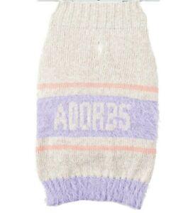 Adorbs Adorable Pink Pet Dog Sweater Size Medium M