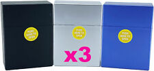 3 x Plastic Cigarette Case Holder Packet Metallic Fits 30 Cigarettes
