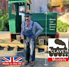 More details for 16mm short driver sam hand painted garden railway people 1:19 figure free p&p