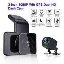 3 Inch Dual Lens Wifi GPS Car Dash Cam Hidden Camcorder G-Sensor Parking Monitor