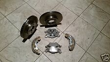 SUZUKI SWIFT 05-11 TWO FRONT BRAKE DISCS FOUR BRAKE PADS AND A SET OF REAR SHOES