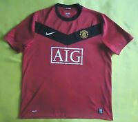 4.6 5 MANCHESTER UNITED ENGLAND 2009 2010 ORIGINAL FOOTBALL HOME JERSEY  SHIRT 7abf80de92671