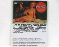 Coca-Cola - AMERVOICE - SC. 12 MESI dal 1° UTILIZZO-PHONE CARD-scheda telefonica