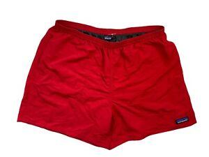 """Patagonia Men's Baggies 4.5"""" Red Button Large Lined Shorts Trunks NWOT"""