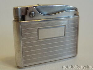 Vintage STERLING SILVER Ronson Adonis Cigarette Lighter No Monogram Made in USA