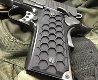 """1911 Compact Officer Grips Colt kimber Defender """"Hive Black"""""""