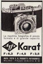 Z3696 Macchina fotografica Agfa KARAT - Pubblicità d'epoca - 1940 advertising