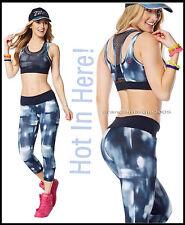 ZUMBA 2Pc.SET!! Hot in Here Capri leggings (Zumba Logo in Pink Accent) + BRA TOP