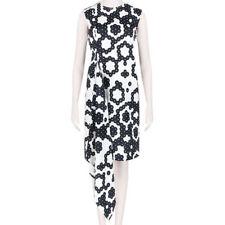 J W Anderson Black White Patterned Wrap Effect Sleeveless Dress UK10 IT42