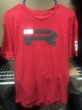 Iron Rebel T-Shirt Men's Gym Fitness Training Muscle Alpha Large Red Top MMA
