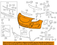Buick GM OEM 12-14 Regal-Bumper Cover 22741024
